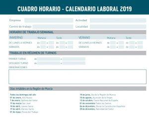 Calendario 2019 Murcia.Calendario De Fiestas Laborales 2019 En Espana Y La Region De Murcia