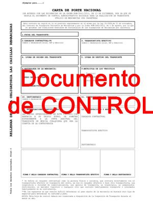 Documento de control - Productos FROET